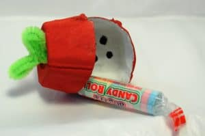 Egg carton apple treat