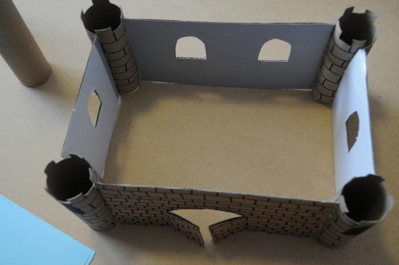 Glue walls to pillars