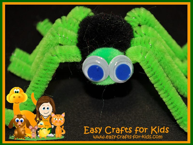 Spider friend made from pipe cleaners
