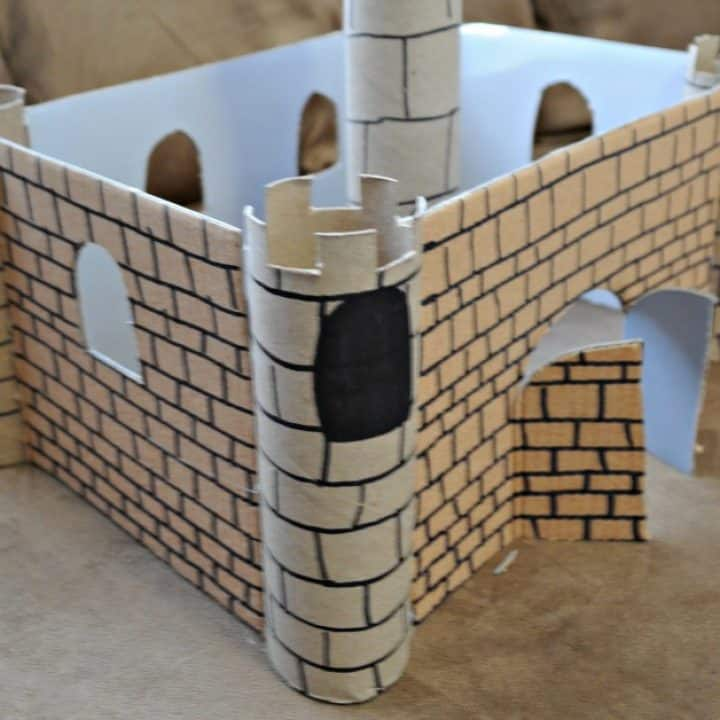Cardboard medieval castle
