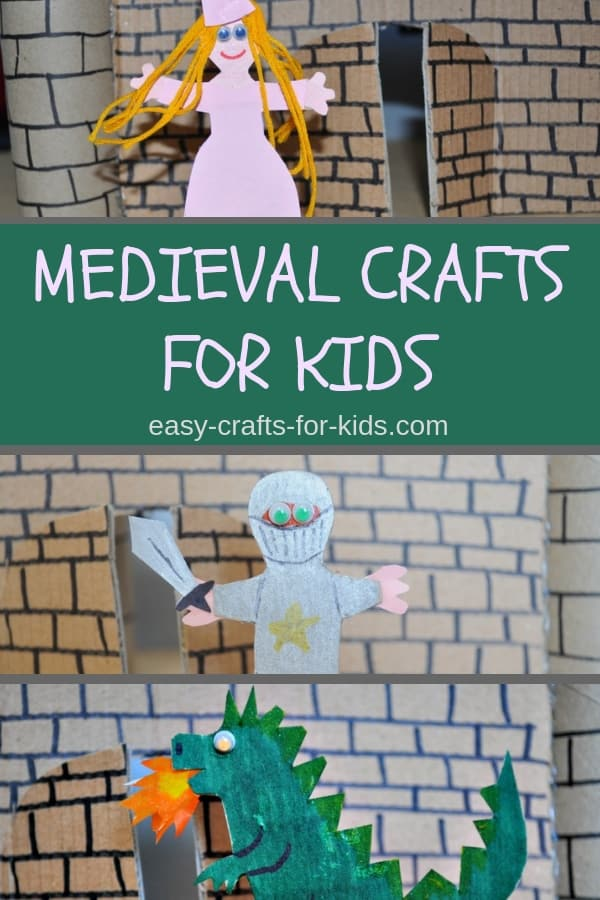Medieval Crafts For Kids #kidscrafts #craftsforkids #medievalcrafts #medieval #medievalfigurines #papercrafts #googlyeyes #constructionpaper
