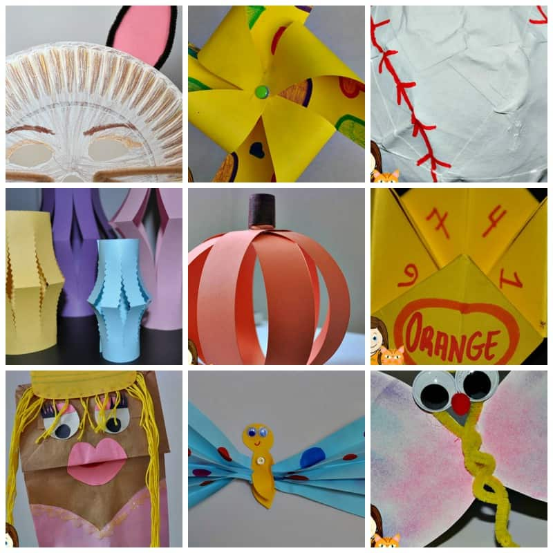 Fun Paper Crafts For Kids To Keep Them Entertained Easy Crafts For