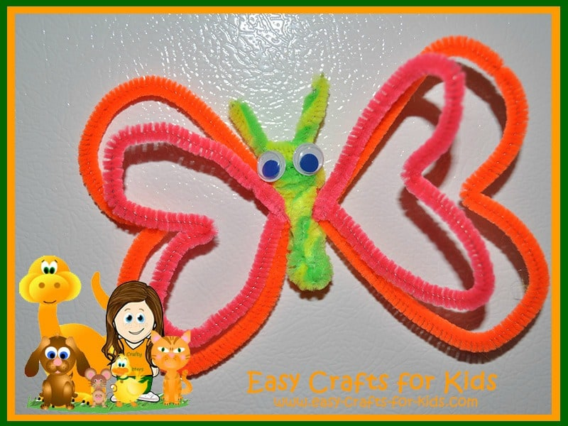 Pipecleaner butterfly