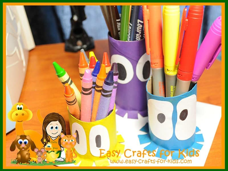 Squid pencil holder