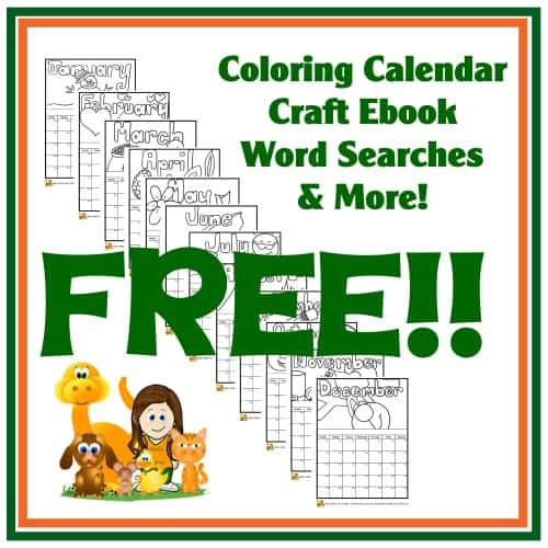 Coloring calendar craft ebook