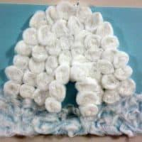 Igloo Craft With Cotton Balls