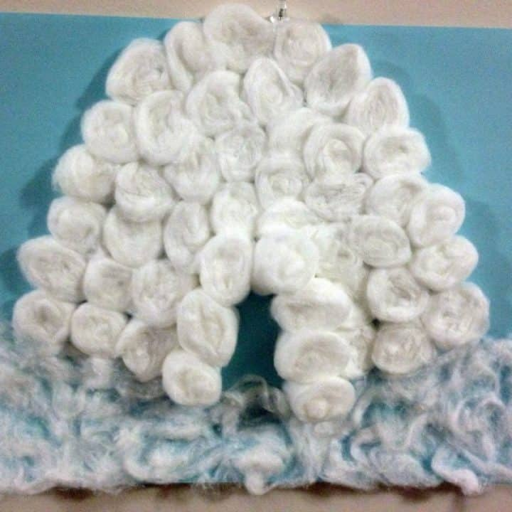 Igloo Craft With Cotton Balls