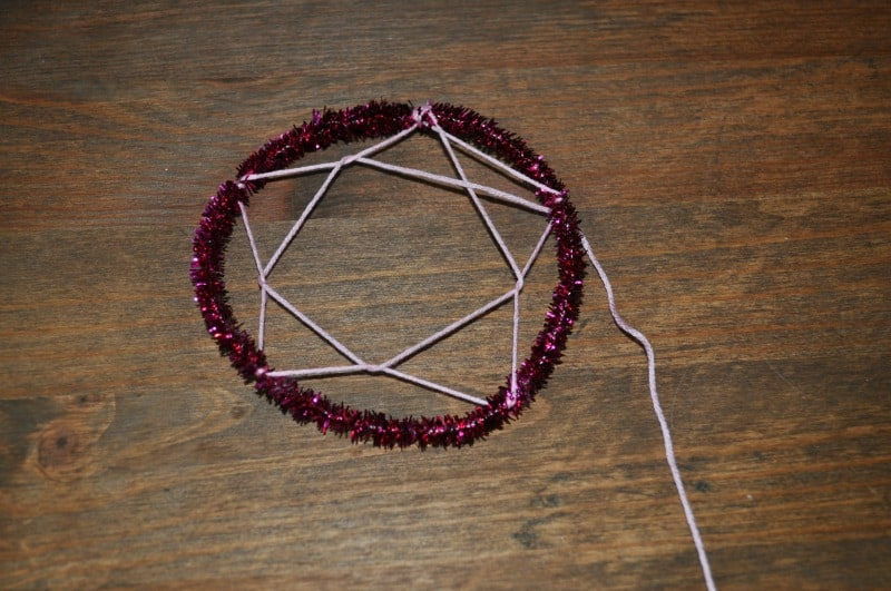 Dreamcatcher craft - step 3