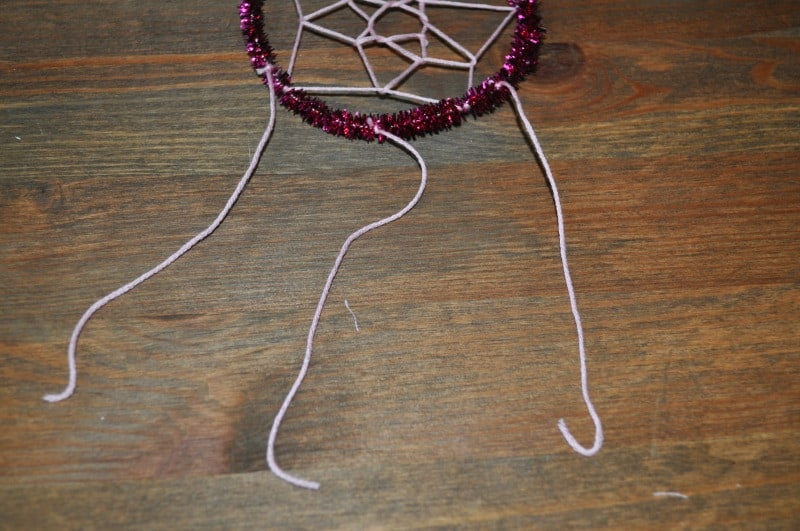 Dream catcher craft - step 6