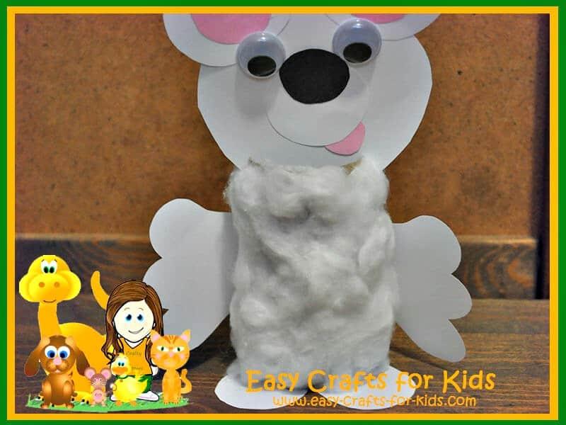 Fuzzy toilet paper polar bear