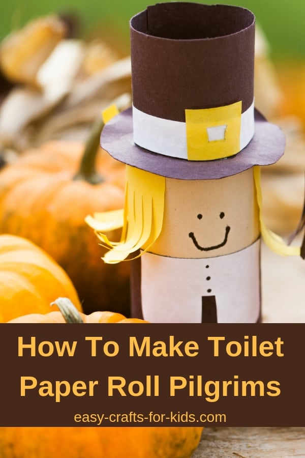 As you're planning for your family's Thanksgiving dinner, let the kids help. These toilet paper roll pilgrims and Indians make the perfect table decorations. Simple enough for a preschool or kindergarten activity, you probably have all the materials in your home. #thanksgiving #tpcrafts #toiletpapercrafts #thanksgivingcrafts #kidscrafts #pilgrims #thanksgivingdinnerdecorations