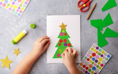 Christmas tree card craft for kids