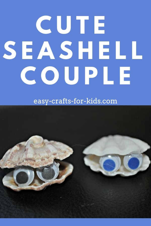 This cute seashell couple is easy to make and the perfect summertime seashell craft for kids. Bring the beach home even when you're far away! #seashells #kidscrafts #summercrafts #seashellcrafts #easycraftsforkids #eck