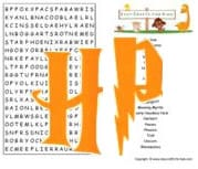 Harry Potter word search image