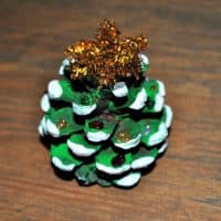 How To Make Pine Cone Christmas Trees