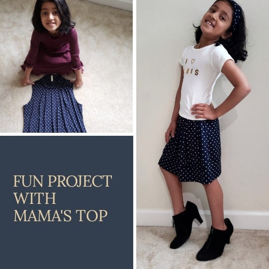 Fun project with mama's top