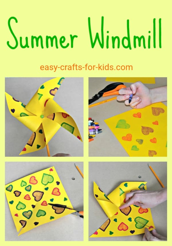 Kids will have fun all summer long with these cute paper mills. Lots more great crafts to do in the summer weather! #summercrafts #summeractivities #summer #kids #papermills #crafts #kidsactivities