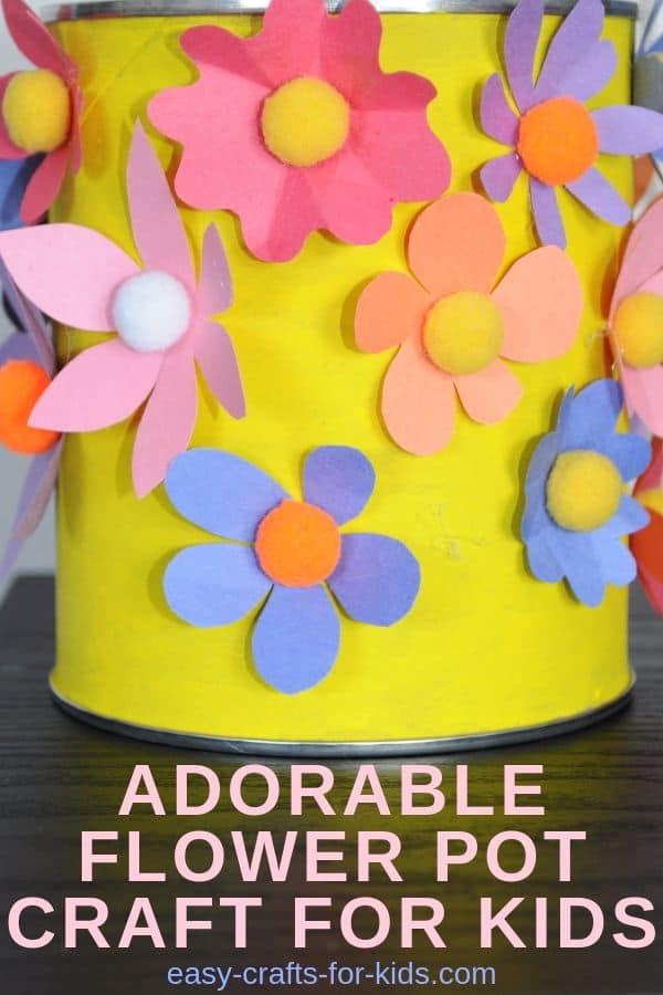 Adorable flower pot crafts for kids #kidscrafts #kidsactivities #funforkids #summercraftsforkids #crafts #crafting