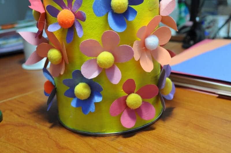 Cute cofee tin flower pot