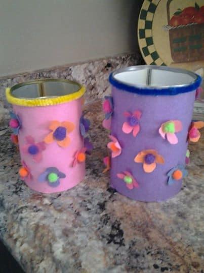 Flower craft pot made by a Facebook member