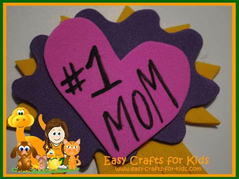 number 1 mom badge