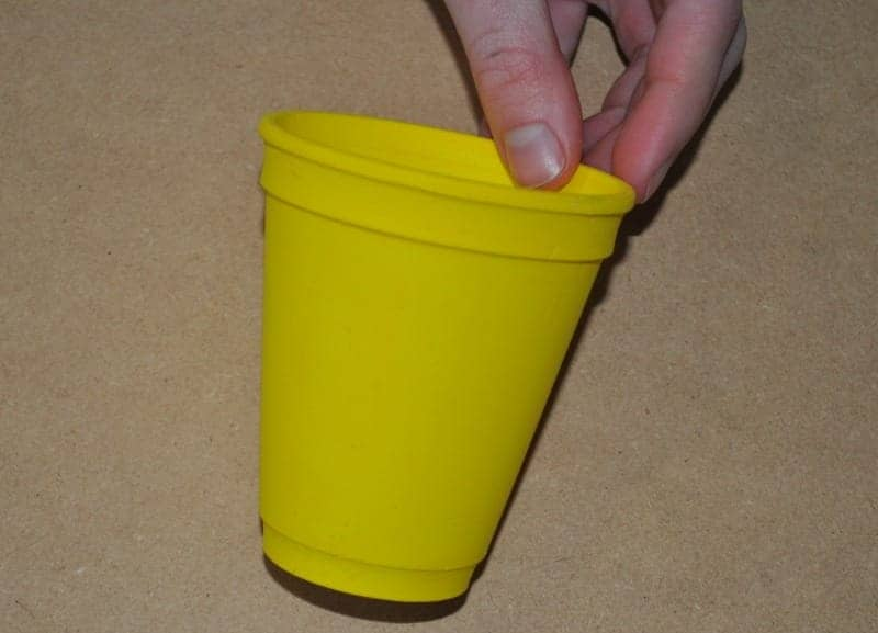 Paint cup yellow