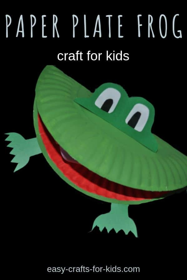 Looking for frog crafts for kids? You'll love this paper plate frog made with simple supplies you're sure to have on hand. #frogs #craftsforkids #easykidscrafts #frogcraft #frogcrafts #animalcrafts