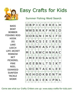 image relating to Printable Summer Wordsearch identify No cost Printable Summer time Term Glance Puzzles - Very simple Crafts For Children