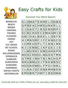 Sumer fun word search