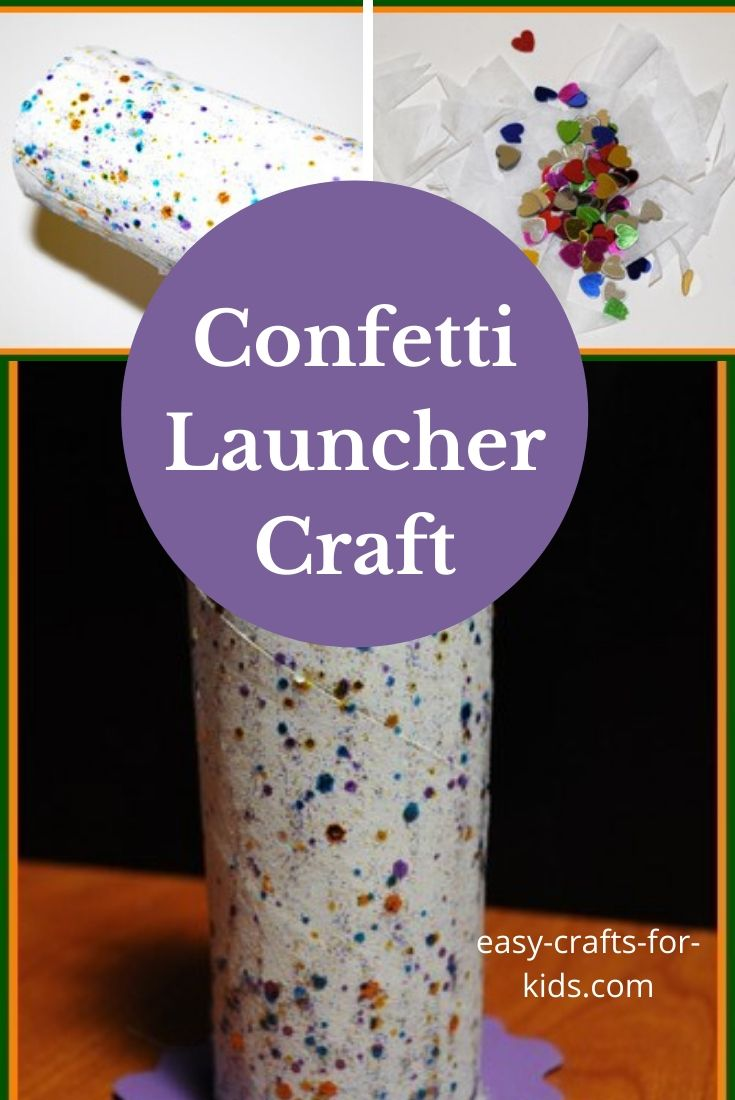 Confetti Launcher Craft With Toilet Paper Roll