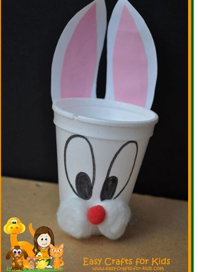 Easter Bunny Craft For Preschoolers - Bunny Treat Cup