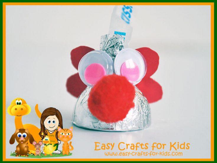 Hershey Kiss Valentine Craft
