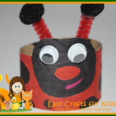 Ladybug Toilet Paper Roll Craft