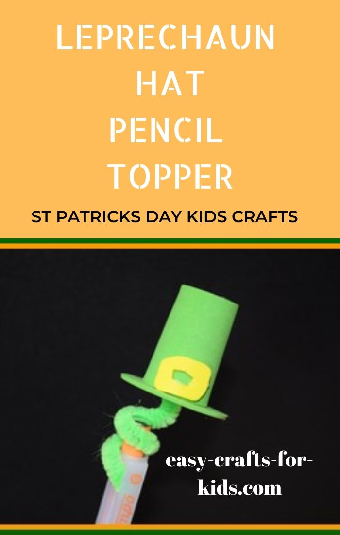 Leprechaun Hat Pencil Topper Craft