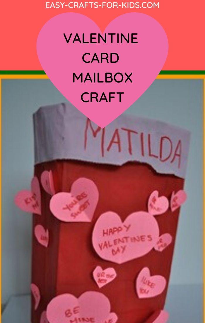 Paper Bag Valentine Card Mailbox