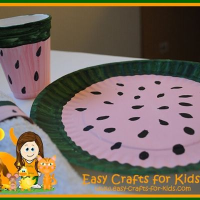 Paper Plate Summer Craft