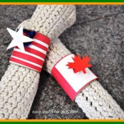Patriotic Napkin Ring Crafts