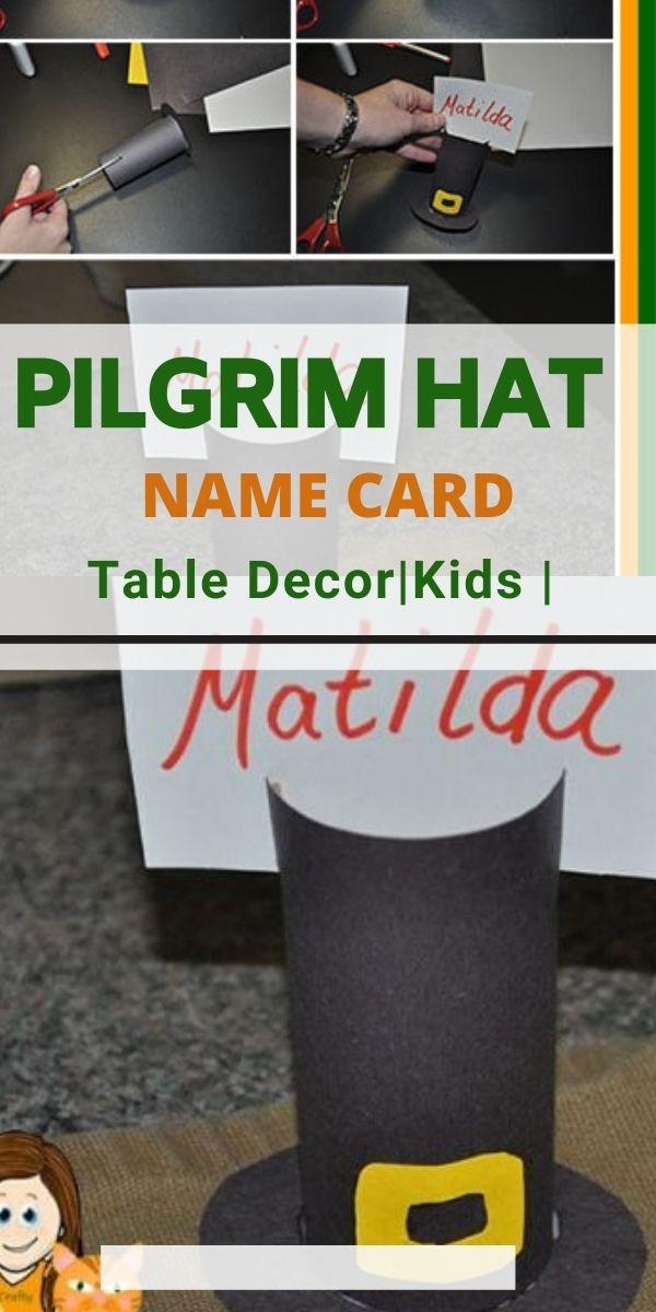Pilgrim hat name card best pilgrim crafts