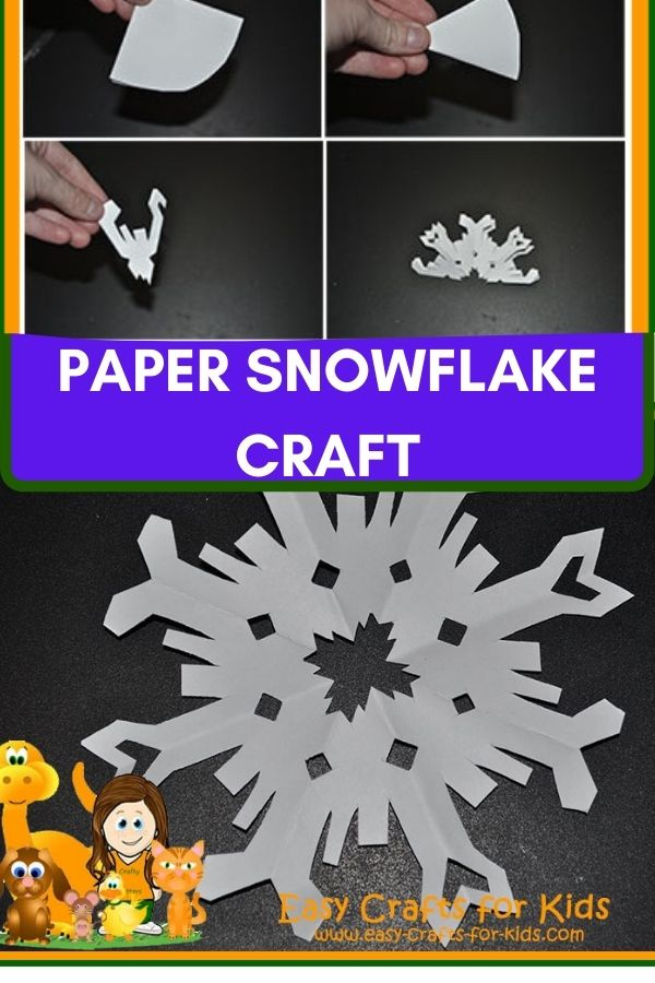 Snowflake paper craft for kids