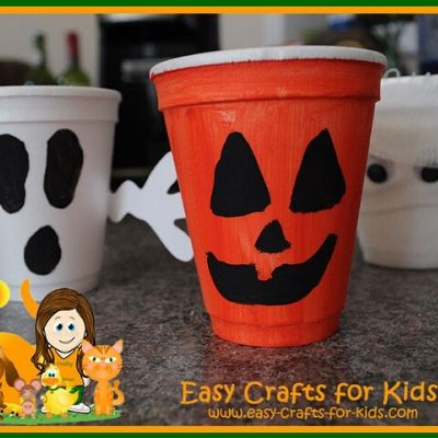 Styrofoam Cup Crafts for Halloween