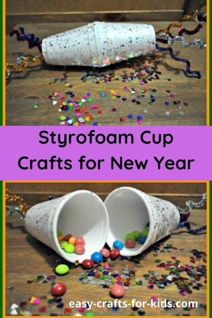 Styrofoam Cup Crafts for New Year