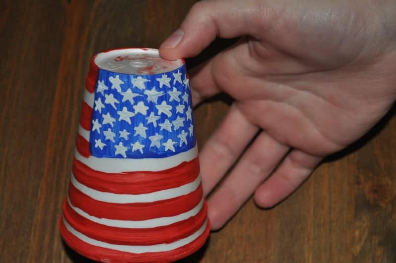 Patriotic flag for cup craft