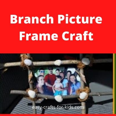 branch picture frame craft