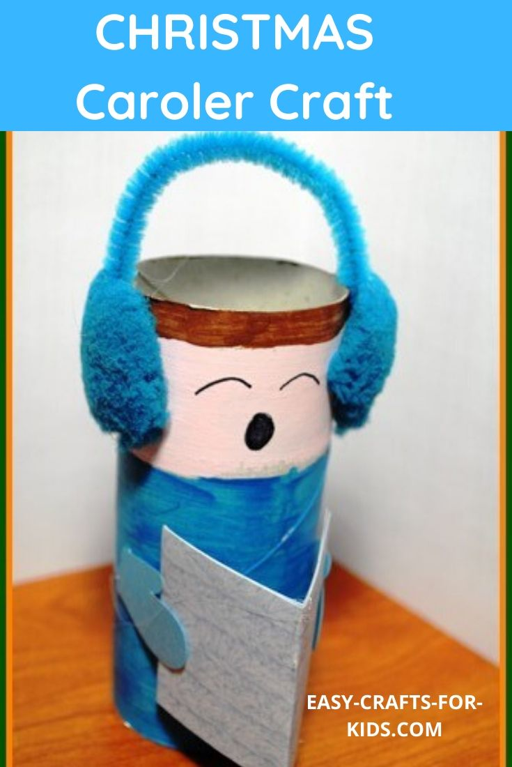 christmas caroler craft with toilet paper rolls