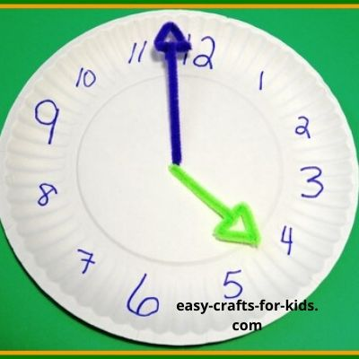 clock crafts for kids