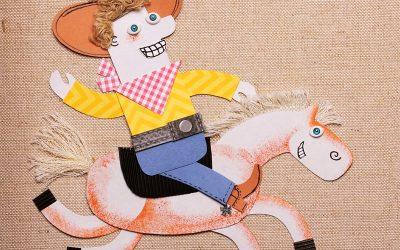 Cute cowboy on horse