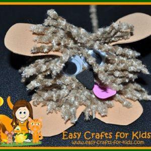 dog craft with yarn