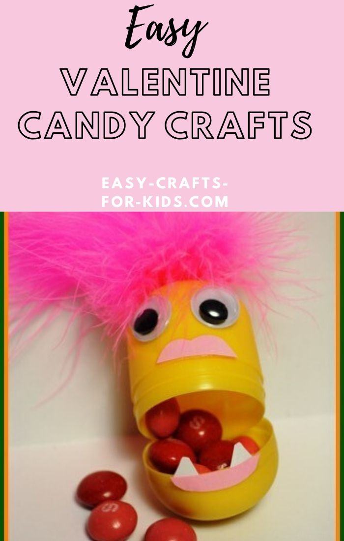 easy valentine candy crafts for kids