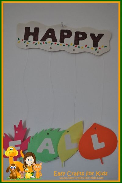 DIY Fall Wall Banner for Kids