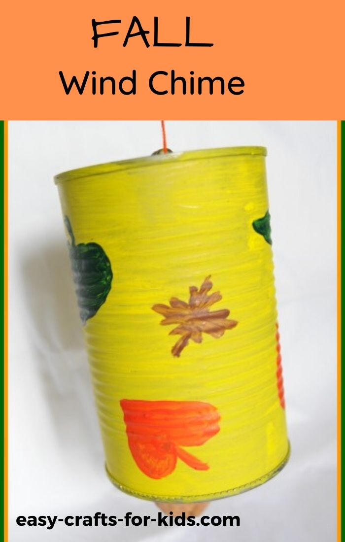 fall wind chime craft for kids